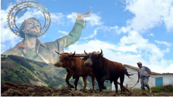 Las fiestas son motivo para realizar procesiones donde caminan el agricultor y su bestia juntos.